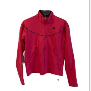 Nike Zipper Pink Athletic Workout Jacket Large
